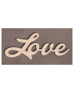 """WS2052 Love Sign 8"""" wide x 3 3/8"""" tall"""