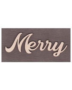 """WS2511 Merry Sign 6"""" wide x 2 1/4"""" tall"""