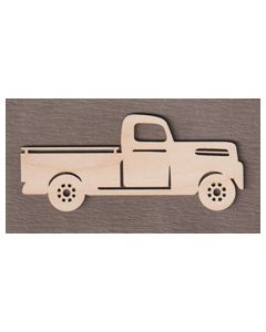 "WT9557 Christmas Truck with Tree Ornament-6"" wide x 2 5/8"" tall