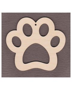 Laser cut Paw Print Ornament