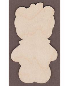 PHD138-1 Pumpkin Bear Shelf Sitter