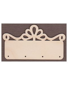 WT2661-1 Laser cut Decorative Key Hanger-6 3/8`tall x 11 1/2`wide