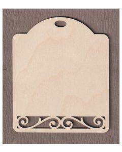 "WT1643- 2 Extra Small Cut Corner Gift Tag  3 1/4"" tall x 1 1/2"" wide"