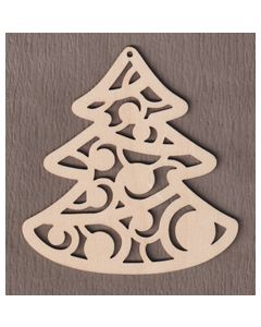"WT9541 Scroll Christmas Tree Ornament-5"" tall x 4 3/4"" wide"