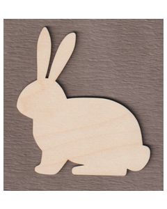 """WT5025 Sitting Easter Bunny  8"""" tall x 7 1/4"""" wide"""