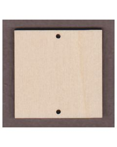 "WT1369-2 Square-2"" with 2 holes"