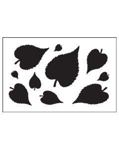ST1025-Oval Leaf-Mylar Stencil