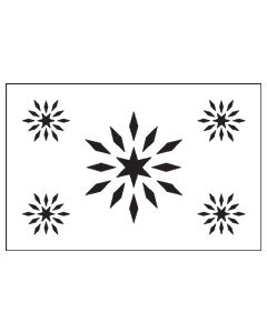 ST1026-Diamond Star-Mylar Stencil