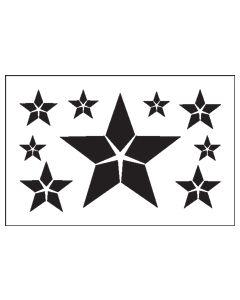 ST1028-Split Star-Mylar Stencil
