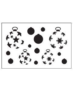 ST1030-Christmas Ball-Mylar Stencil