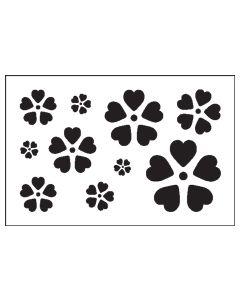 ST1031-Heart Flower-Mylar Stencil