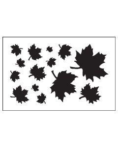 ST1032-Tracy's Maple Leaf-Mylar Stencil