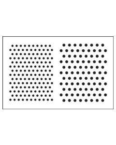 ST1033-Small Polka Dot-Mylar Stencil