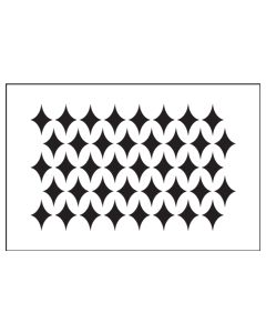 ST1035-Diamond Offset-Mylar Stencil