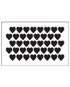 ST1036-Hearts Background-Mylar Stencil