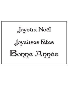 ST1040-French Sayings 1 medium-Mylar Stencil