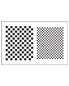 ST1043-Small Checkerboard-Mylar Stencil ©