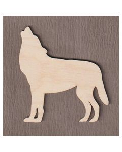 """WT5066 Standing Wolf 6"""" tall x 5 1/2"""" wide"""