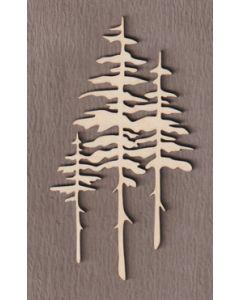 """WT5116 Tall Pine Tree 10"""" tall x 4"""" wide"""