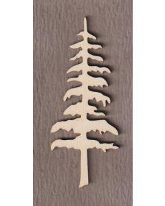 """WT5112 Tall Pine Tree 4"""" tall x 1 5/8"""" wide"""