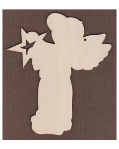 WT1002-Laser cut Jamie Mills-Price Angel with star. Boy What an Angel