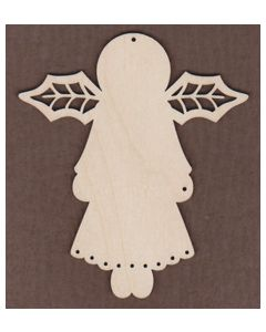 WT1006-Laser cut Jamie Mills-Price Angel with Holly Wings