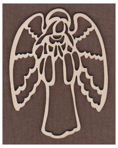 WT1013-Laser cut Praying Angel Ornament