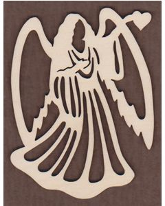WT1014-Laser cut Angel with heart Ornament