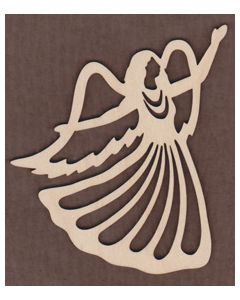 WT1015-Laser cut Angel with hands Ornament