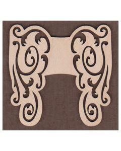 WT1028-Laser cut scroll Angel Wings