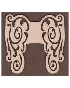 WT1030-Laser cut scroll Angel Wings 3 Sizes Available