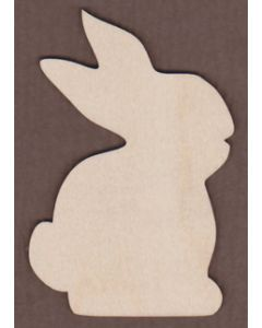 "WT2536-Laser cut Rabbit-1 1/4"" tall-Bag of 25 Only"