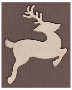 WT1046-Laser cut Leaping Reindeer