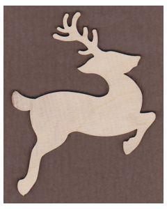 WT1047-Laser cut Leaping Reindeer