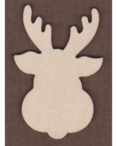 WT1051-Laser cut Reindeer Face