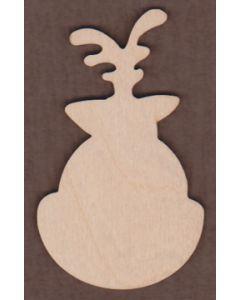 WT1052-Laser cut Reindeer Face