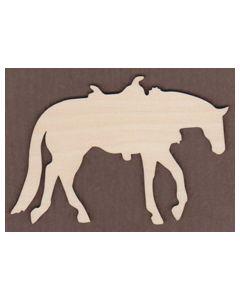 WT1060-Laser cut Horse with Saddle