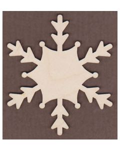 "WT2527-Laser cut Snowflake-3/4"" tall-Bag of 25 Only"