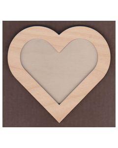 WT1126-laser cut Heart 2 piece Frame Kit