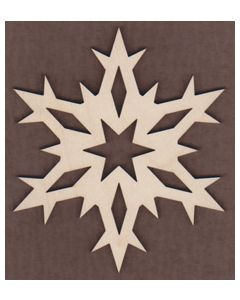 """WT2546-Laser cut Pointy Snowflake-1 1/4"""""""