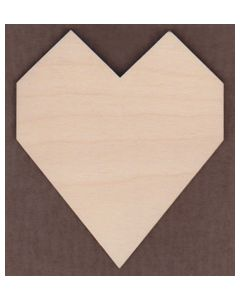 "WT1245-2 Chunky Heart-1 1/2 "" tall x 1 5/16"" wide"
