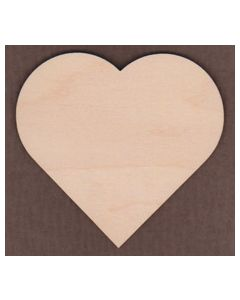 "WT2530-Laser cut Heart-3/4"" tall-Bag of 25 Only"