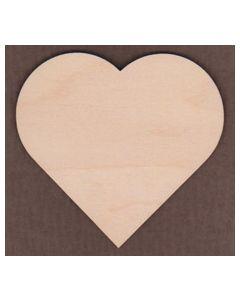 """WT1229-1 Tall flat side Heart-1"""" tall x 1 1/16"""" wide"""