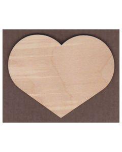 WT1239-Laser cut Short flat side Heart