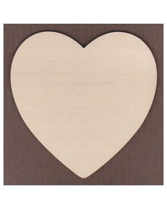 WT1260-Laser cut wide Round Heart