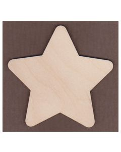 "WT2528-Laser cut Star-3/4"" tall-Bag of 25 Only"