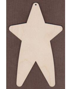 """WT1321-Laser cut Tall Star-6 1/2"""""""