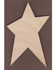 "WT2540-Laser cut Primitive Star-1"" tall-Bag of 25 Only"