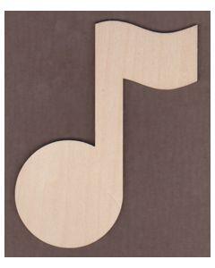 "WT1432-Laser cut Music Note-6"""