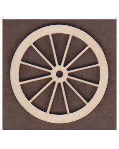 WT1564-Laser cut 12 Spoke Wagon Wheel